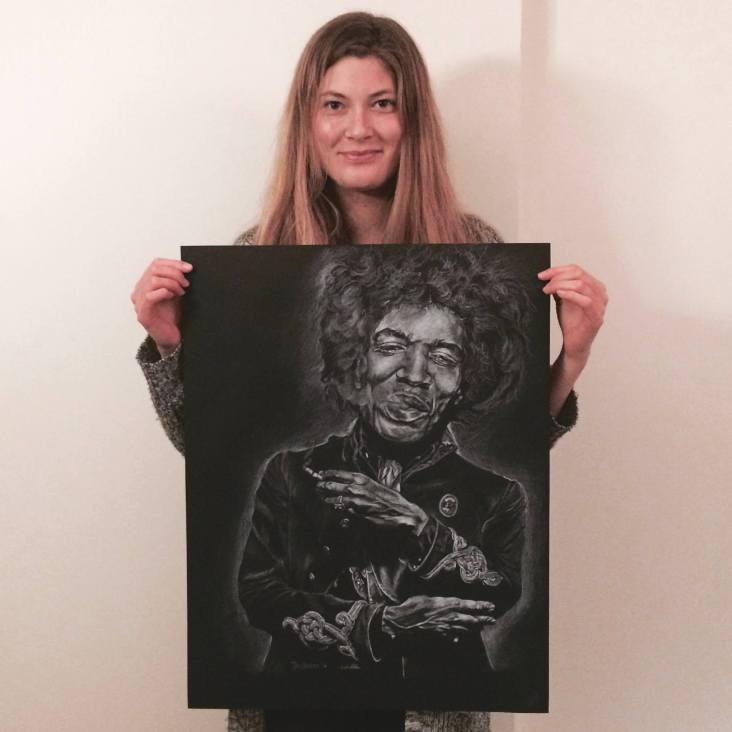 Jimmy Hendrix Portrait - commision