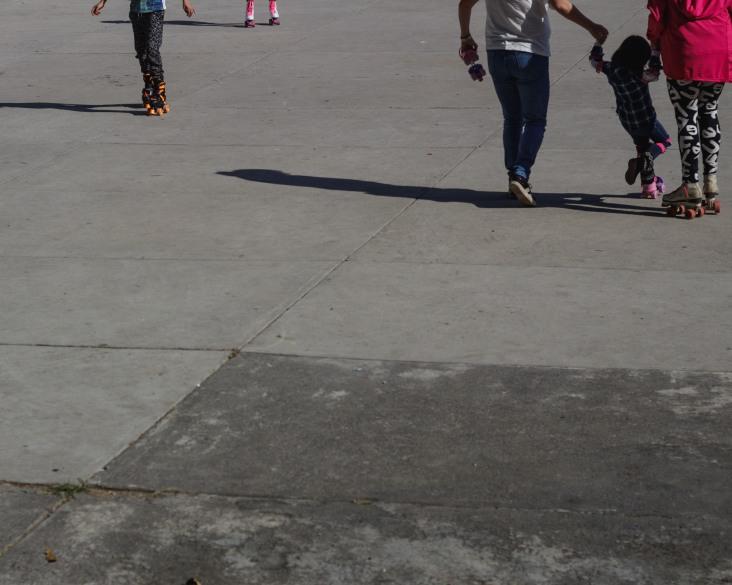 Learning to roller skate